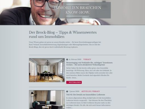 Blogtexte Brock Immobilien