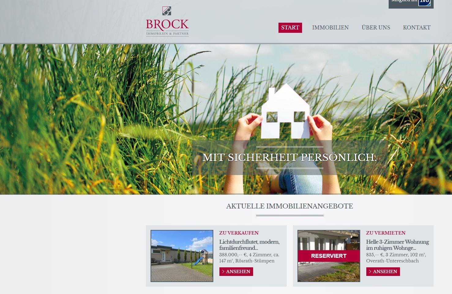 Webtexte Brock Immobilien