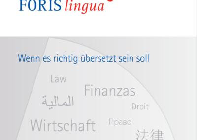 Imagebroschüre Übersetzungsdienstleister