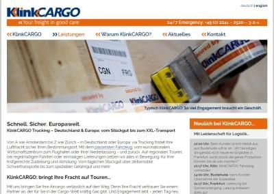 Webtexte Aircargo-Dienstleister Klinkcargo